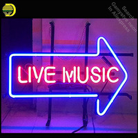Live Music Neon Sign neon bulb Sign Arrow Glass Tube neon lights Recreation Beer Room Iconic Sign Advertise Windows Garage Wall