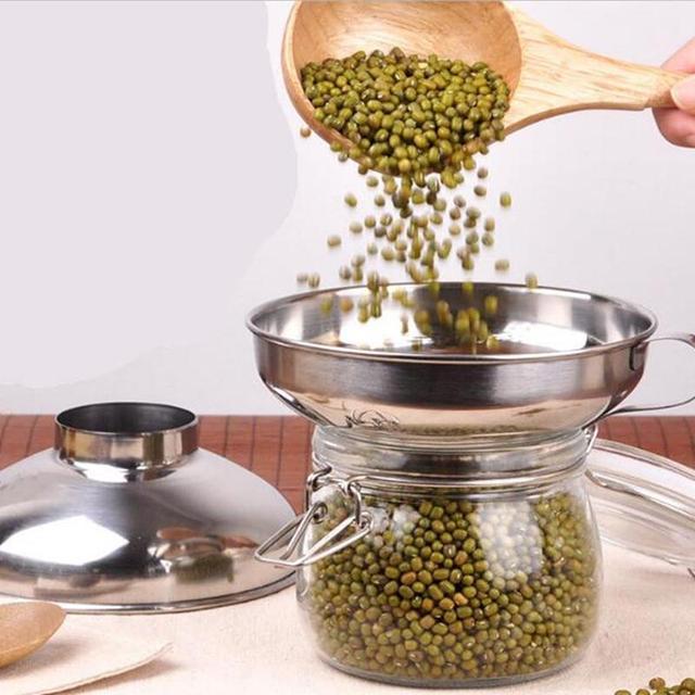 Adeeing Roestvrij Staal Brede Mond Trechter Inblikken Hopper Filter Voedsel Pickles Trechter Keuken Gadgets Kookgerei