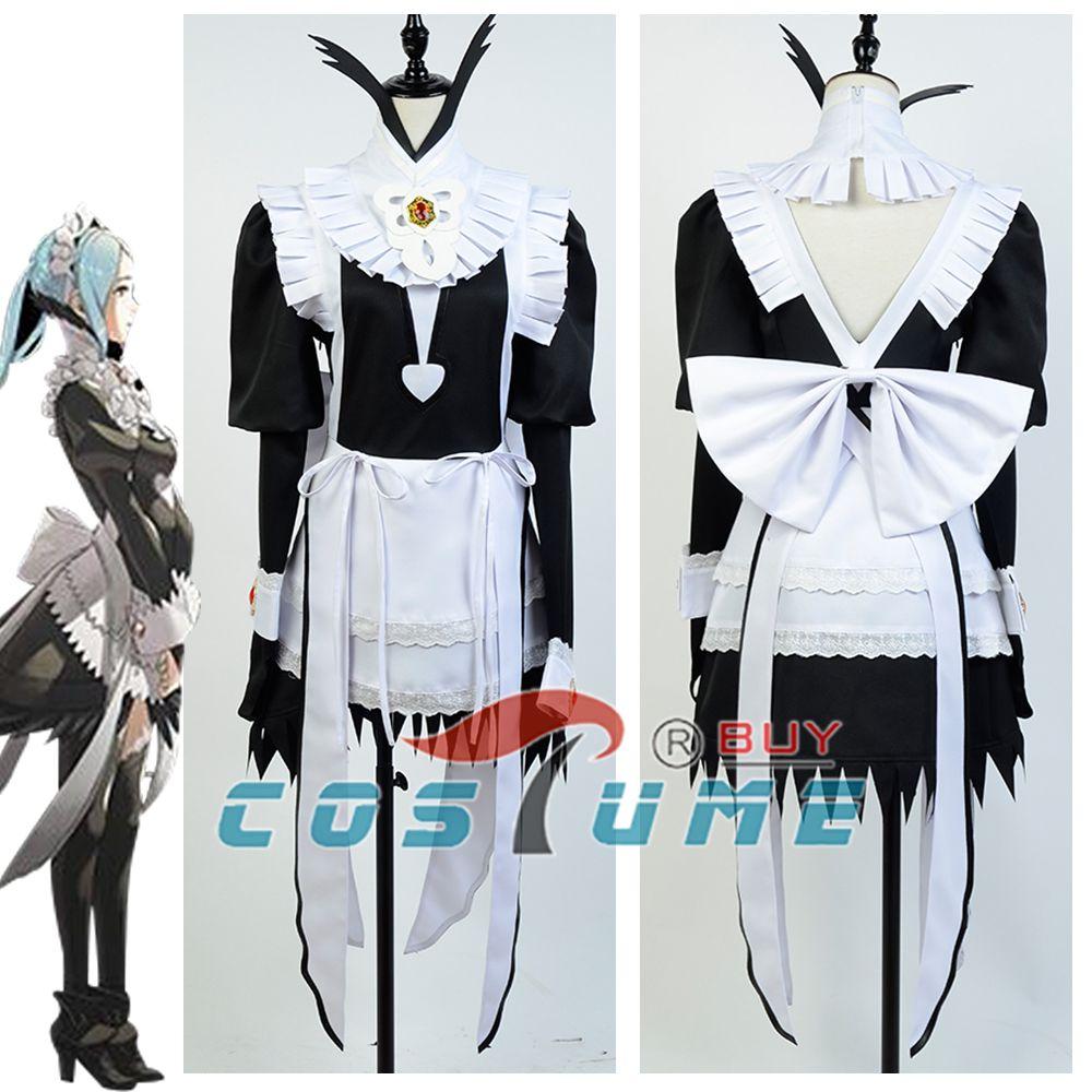 Fire Emblem If Fates Flora Maid Fancy Dress Cosplay Custom Costume Custom Made Free Shipping