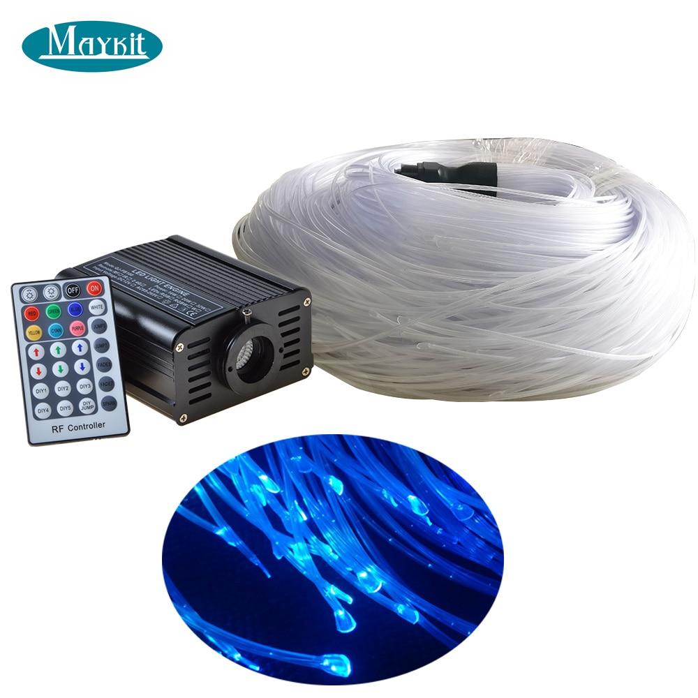 Maykit In Modo Sicuro di Calore Sigillato 160 pcs 3*0.75 millimetri 3 m In Fibra di 16 W RGB LED Fibra Ottica Luce motore di Luce In Fibra Ottica Per I Bambini Sensoriale Camera