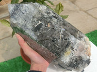 6600g(14.5 lb) Natural Black Tourmaline Hair Quartz Crystal Point China DPB001
