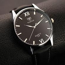 Quartz Montre Hommes YAZOLE Marque De Luxe Célèbre Montres Homme Horloge En Cuir Montre-Bracelet D'affaires De Mode Casual Robe Montres