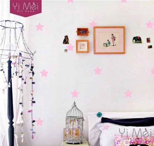 a946fee36 النجوم الصغيرة-غرفة الاطفال الفينيل الجدار ملصق ديكور المنزل حضانة الطفل  تزيين غرفة الأطفال خلفيات 50*105 سنتيمتر تزيين المنزل