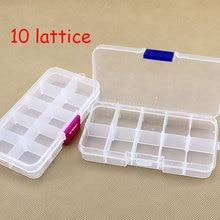 2016 white high strength 13X 6 * 2cm plastic track box 10 box bait fishing tackle box