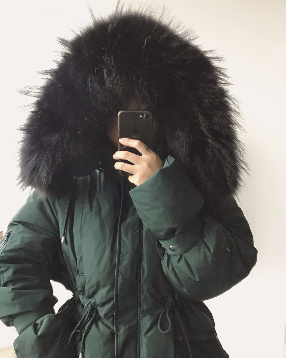 цены на New winter fashion women's hooded down jacket female Maternity coat warm White duck down coat outerwear good quality Real Fur в интернет-магазинах