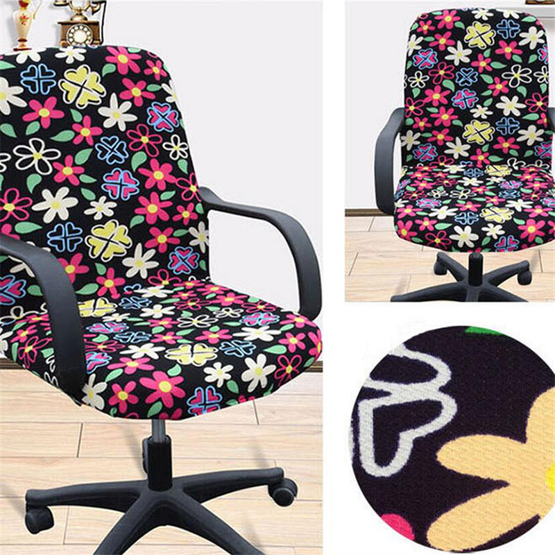 Elasticity Office Computer Chair Cover Side Arm Recouvre Chaise Stretch Rotating Lift Without In From Home