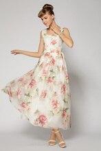 spring summer organza formal gauze tunique vestido vintage rockabilly dress retro print robe femme tunique bohemian longue maxi