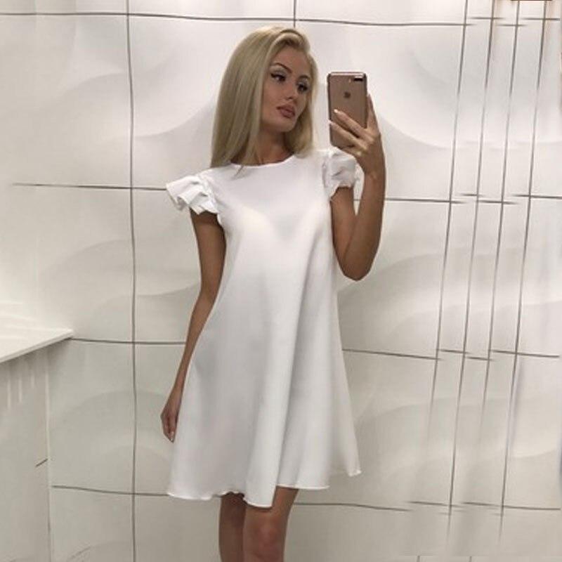 43f34293dc8 H Платье Лето 2018 повседневное свободное платье Милая домашняя женская  одежда черный