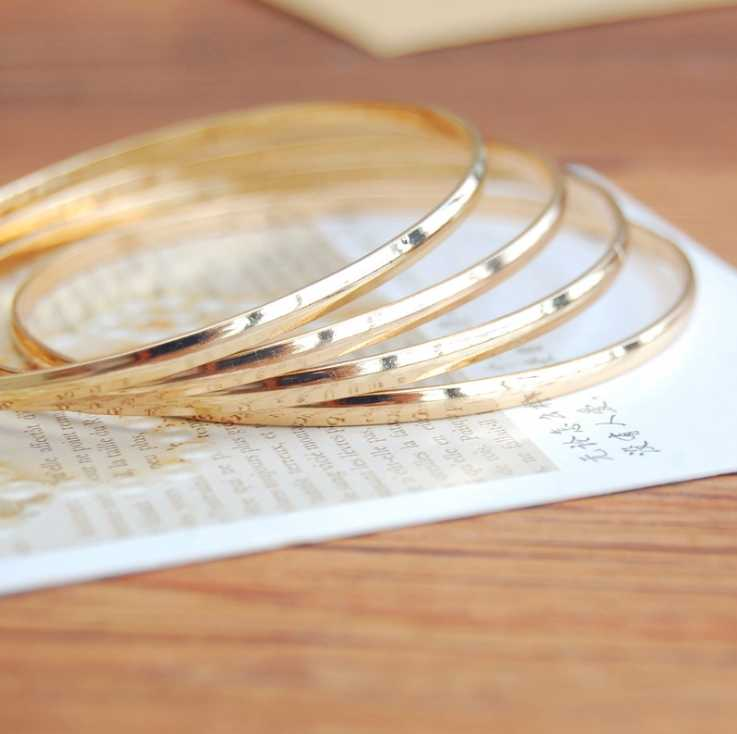 FOMALHAUT Simple and stylish combination gold color bracelets & bangles for women XX-206