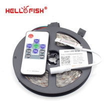 Hello Fish High Quality 5M 300 SMD 5050 LED Strip and  RF Wireless Controller