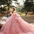 Nova Moda Vestidos Quinceanera 2017 Off The Shoulder Flores Bow Strapless Doce 16 Vestidos de Debutante Vestido Para 15 Anos