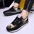 Плюс Размер 38-45 Мода Мужчин Повседневная Квартиры Обувь Мужская Тренеры Дыхание Камуфляж Квартиры Обувь Для Ходьбы Zapatillas Deportivas Hombre