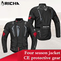 RICHA Motocross suit protection pad Winter motorcycle jacket motocross racing moto riding jacket pants moto protective sets