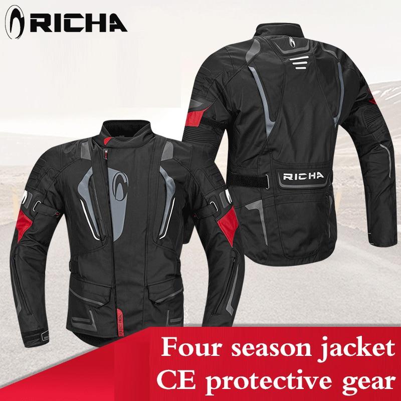 RICHA moto combinaison de protection protection pad hiver moto rcycle veste moto cross racing moto veste d'équitation pantalon moto ensembles de protection