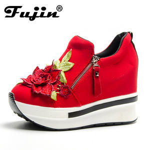 93e5ab4c611 Fujin 2018 Wedges Female Heels Shoes With Party Shoes Women