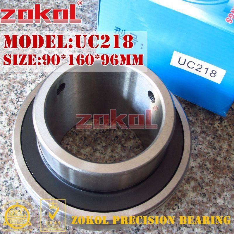 ZOKOL bearing UC218 90218 Pillow Block Ball Bearing 90*160*96mm zokol bearing flange cartridge bearing units ucfc212 ty90512y pillow block ball bearing diameter 60mm