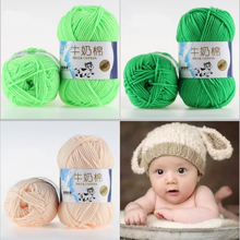 DIY New 50g Cotton Soft Milk Yarn  Knitted Wool Baby Cushion Blanket Handmade Supplies