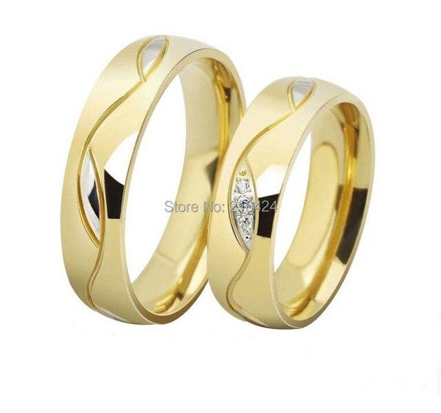 Populaire Hot vente de mariage de titane bague or anneaux Couple pour amant  MV53