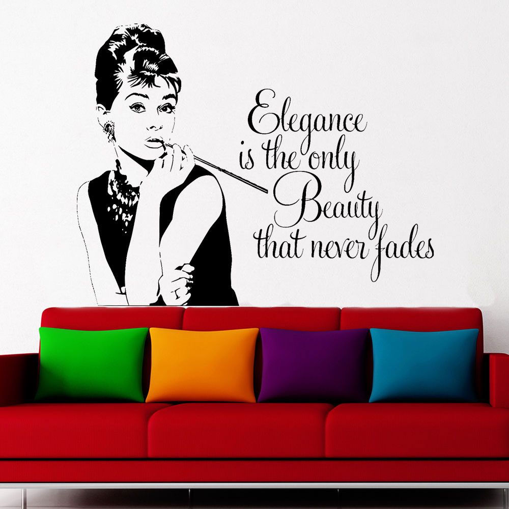 Audrey Hepburn Quote Living Room Teenagers Bedroom Wall Art Sticker Decal Vinyl Home Dec ...