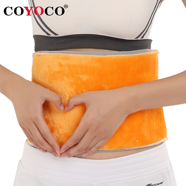 COYOCO Brand Adjustable Gold Velvet Waist Support Bamboo Charcoal Belt Self-heating Breathable Waist Brace Protect Warm