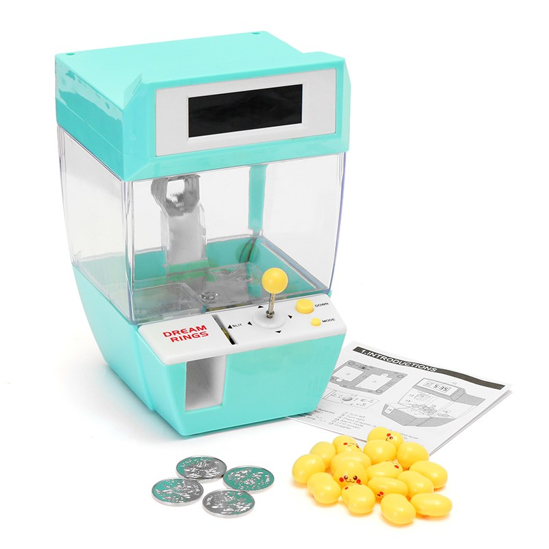 Mini Doll Machine Grab Ball Coin Candy Catcher Alarm Clock For Kids Children Party Fun Toys Kids Gift alarm clock robot kids gift