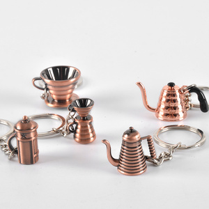 Image 2 - Espresso Coffee Accessories Coffee keychain moka pot/syphon/kettle/grinder/tamper/milk jug/portafilter style coffee keyring gift