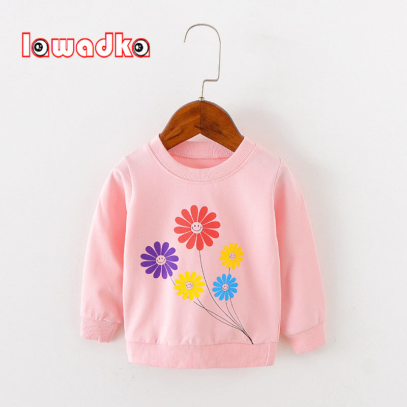 Lawadka Long Sleeve Tops Autumn Clothing Baby Boy Girls Sweatshirts Flower Pattern Children T Shirts For Kids Boys Clothes