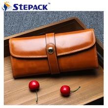 Neue Mode Frauen Brieftasche Rindsleder Geldbörse Weiblichen Berühmte Marke Luxus Brieftaschen Handtasche WMB0101