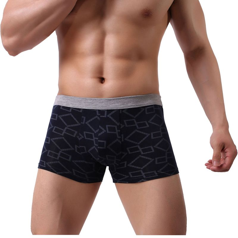 Mens Soft Breathable 2019 Pigs Black Underwear Boxer Briefs