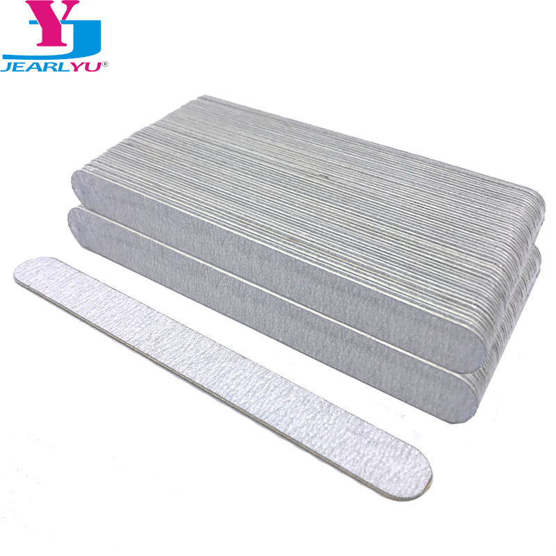 100 Pcs/lot Nail File UV Gel Polish 180/240 Grit Strong Nail Files Wood Grey Sanpaper Tools Professional Pedicure Manicure Limas