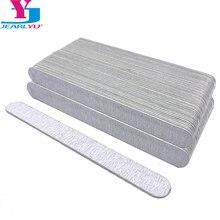 100 Pcs/lot Nail File UV Gel Polish 180/240 Grit Strong Nail Files Wood Grey Sanpaper Tools Professional Pedicure Manicure Limas