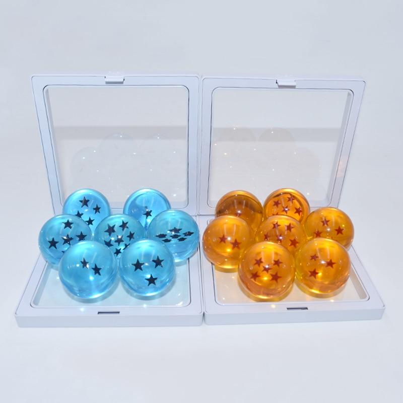 7 pçs/set Anime Dragon Ball Z Ação Figura 3.5 centímetros Dragonball Vegeta Azul E Laranja PVC Figura Coleção Modelo Brinquedos