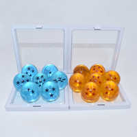 7 pcs/set  Anime Dragon Ball Z  Action Figure 3.5 cm Dragonball Blue And Orange PVC Vegeta Figure Collection Model Toys