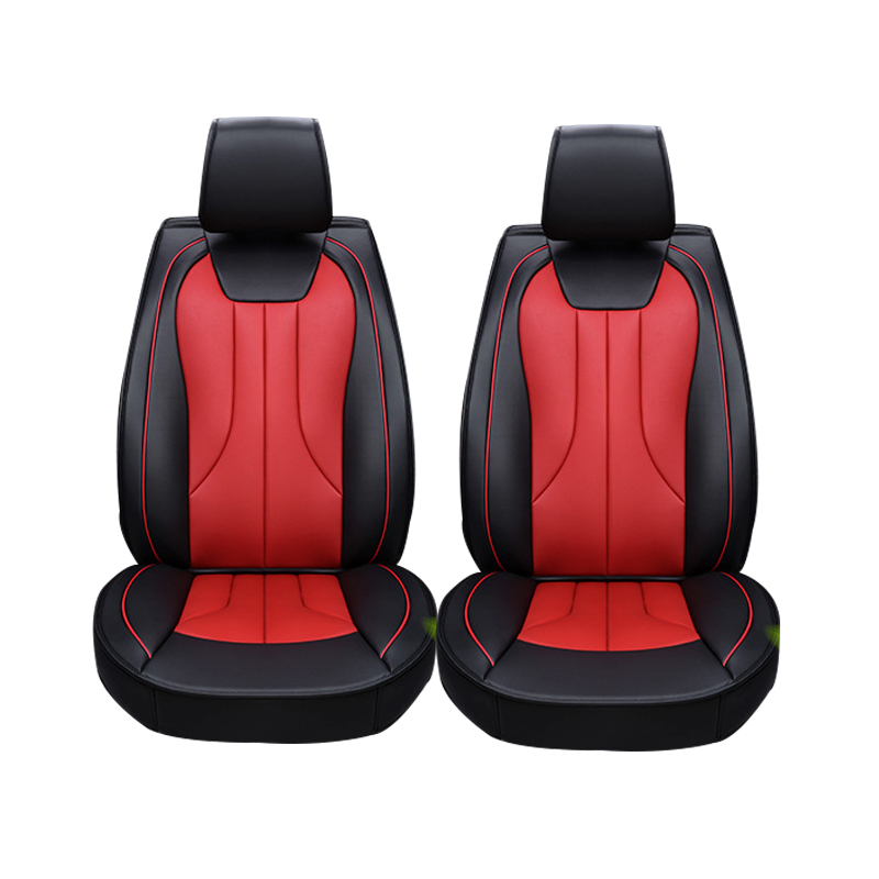 2 pcs Leather car seat covers For Hyundai IX35 IX25 Sonata Santafe Tucson ELANTRA Accent Verna I30 car accessories styling car seat cover seat covers for hyundai santa fe solaris sonata tucson 2017 2016 2015 2014 2013 2012 2011 2010 2009 2008 2007