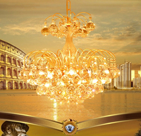 Luxury Chandeliers kronleuchter LED Chandelier Crystal Chandeliers Golden Modern E14 Ceiling Fixture Lights Home Hotel Deco