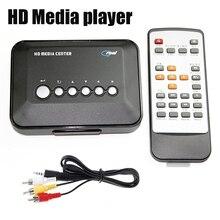Multimédia TV box HDD Media Player Vidéo joueurs de Soutien lecteur de HD USB2.0 haute vitesse RM SD MMC carte Media Player UE/US/UK/AU Plug