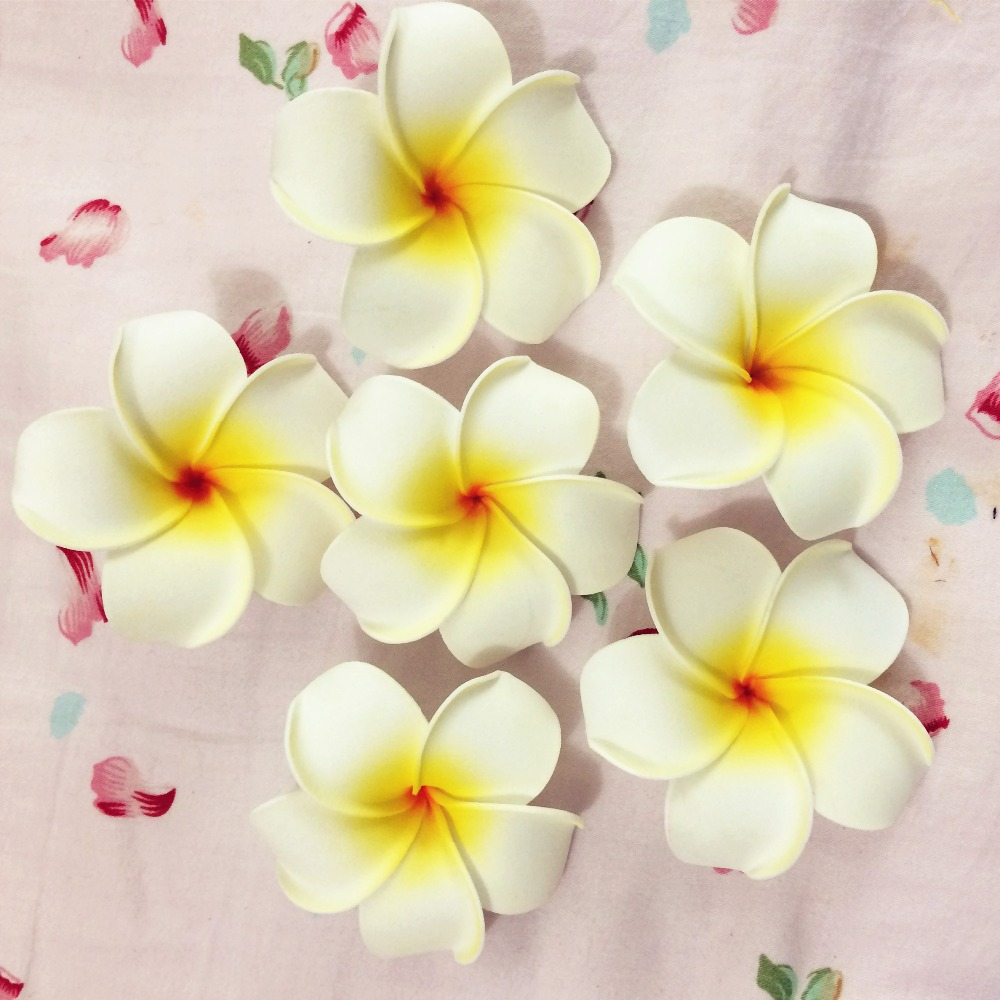 30 white foam hawaiian plumeria flower frangipani flower bridal hair 30 white foam hawaiian plumeria flower frangipani flower bridal hair clip 8cm in hair accessories from womens clothing accessories on aliexpress izmirmasajfo