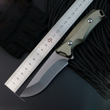Aluminum Handle Fixed Blade Tactical Knife Full Tang Hunting Knife Small Survival Knife 7CR15MOV Steel