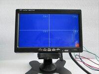 Free Shipping 4CH 4PIN DC12V 24V 7 Inch 4 Split Quad LCD Screen Display Color Rear