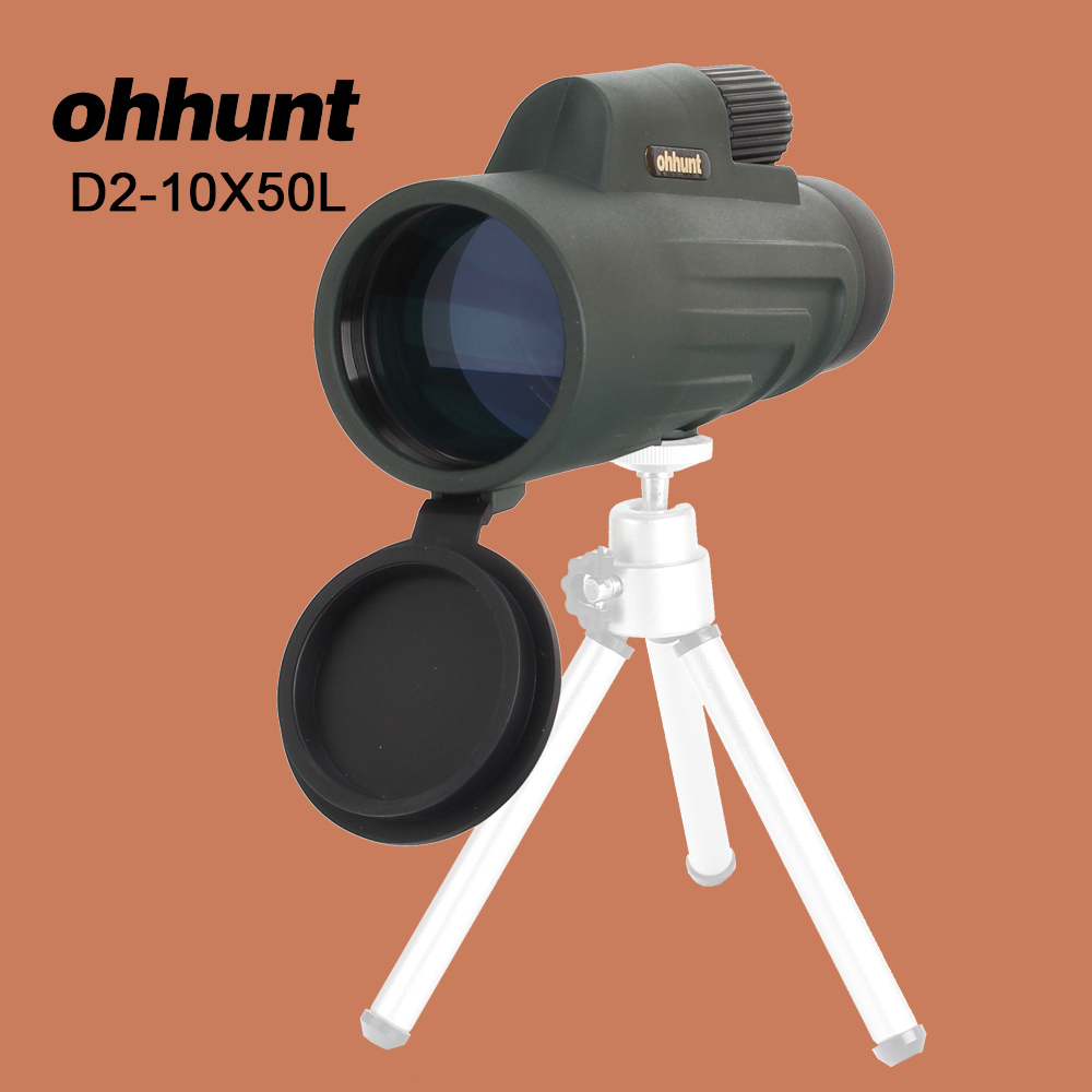 ohhunt 10X50 Binoculars Powerful Zoom Hunting Optical Monocular HD Professional Birdwatching Telescope for Hiking Camping original boshile high power 15 75x25 mini zoom monocular pocket flexible focus zoom telescope for camping dy007