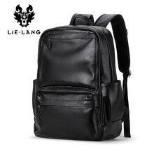 c318a87bbfdd LIELANG Для мужчин Натуральная кожа коровы рюкзак ноутбук Мужской школьная  сумка Высокое качество Для мужчин сумки в Корейском с.