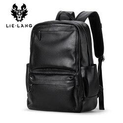 LIELANG männer Echte Kuh Leder Rucksack Laptop Männlichen Schule Tasche Hohe Qualität Männer Daypacks Stil Casual Reisetasche