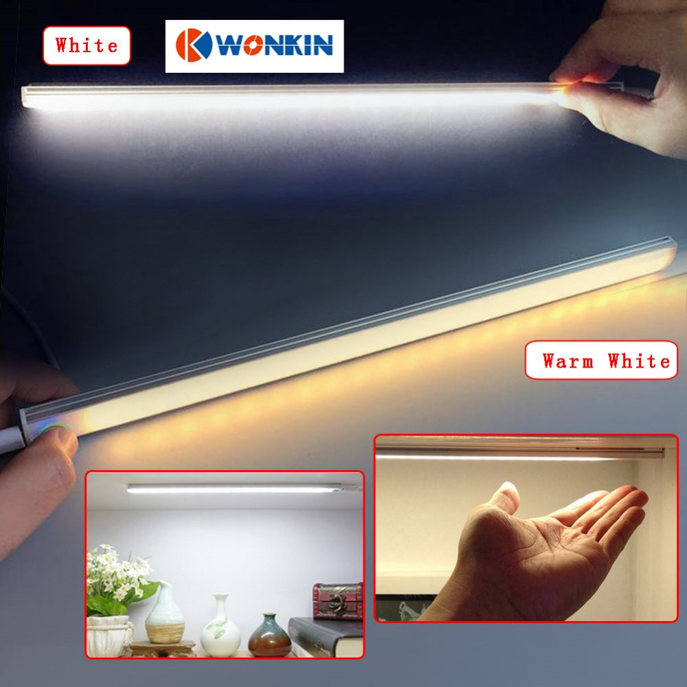 Touch Sensor Light USB Ultrathin skapja korpusa lampas lasīšanas darba galda skapja korpusa lampa 30cm