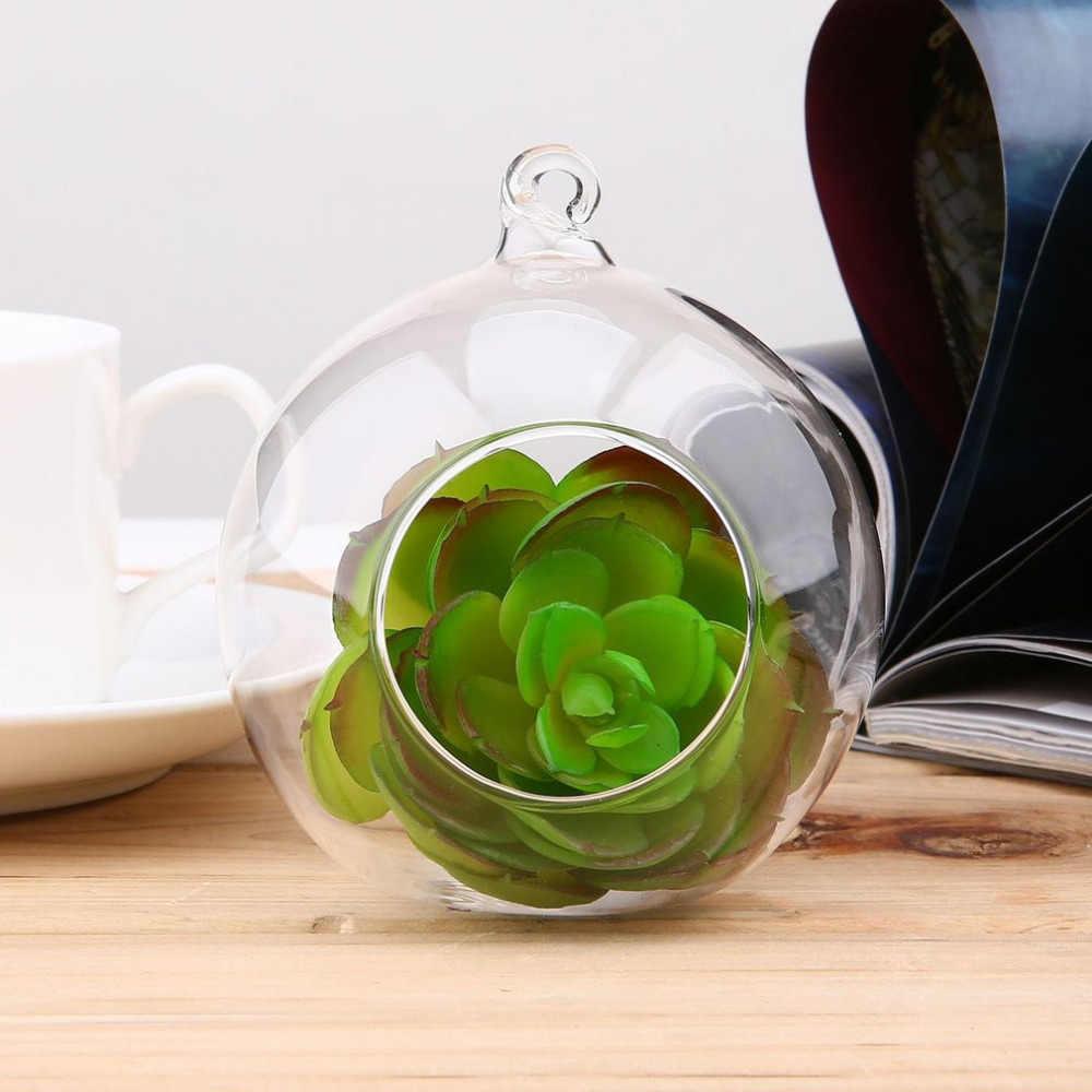 8 センチメートルかわいいミニガラスの花植物花瓶スタンドテラリウム容器手作りクラフトの装飾ドロップ無料