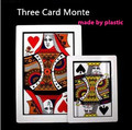 High quality pvc material 1 PC Three Card Monte (Q, K) 45*30cm,Magic Tricks,Classic,Illusions,Stage Magic,Fun,Magic Show