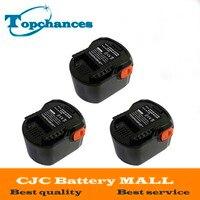 3PCS High Quality Power Tool Battery 12V 2000mAh Ni CD For AEG B1214G B1215R B1220R M1230R