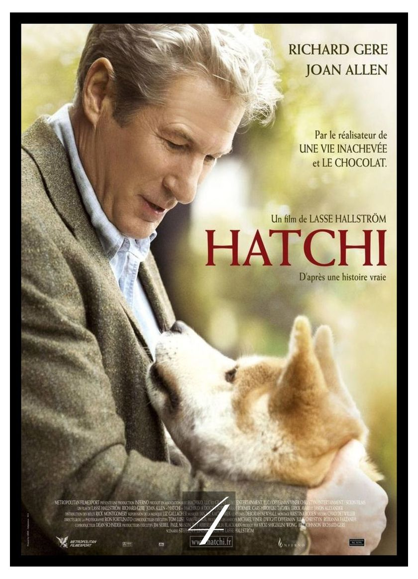 Hachi A Dog 39 s Tale Movie Home Decorative Painting White Kraft Paper Poster 42X30cm in Wall Stickers from Home amp Garden