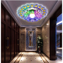 все цены на Colorful porch light Aisle Lamp Surface Mount Crystal Entrance Hallway Sconce Lamps lights Peacock Style Crystal ceiling lights онлайн