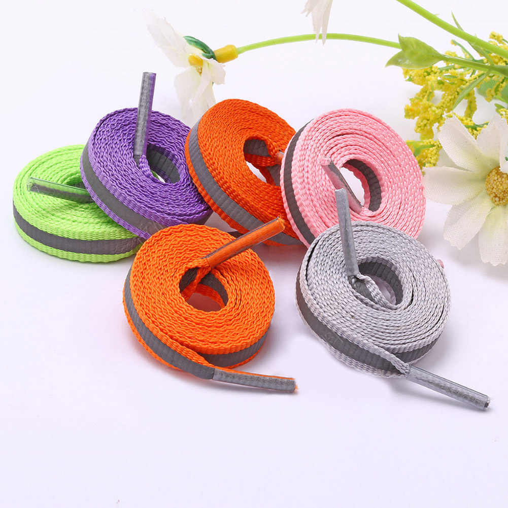 1 Pair Sports Outdoor Striped Shoelaces 8 mm Wide Spot Shoe Lace Colored Polyester Women Men Patchwork Shoe Strings 80/100/120cm
