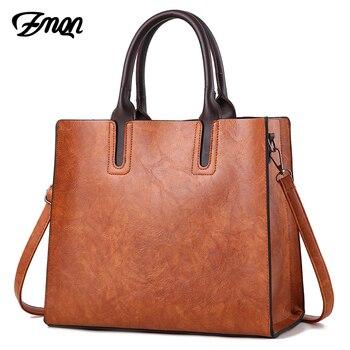 ZMQN люксовых брендов сумки женские кожаные сумочки большой Ёмкость Ретро Винтаж руки-Ручки Сумки Твердые Tote мешок плеча C901